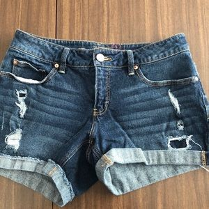 Denim shorts,cuffed never worn. Little distressed